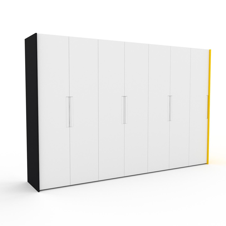 MYCS Dressing - Blanc, design, armoire penderie pour chambre ou entrée, à portes battantes - 354 x 233 x 62 cm, modulable