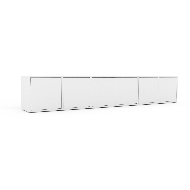 MYCS Placard - Blanc, contemporain, rangements, avec porte Blanc - 231 x 41 x 35 cm, modulable