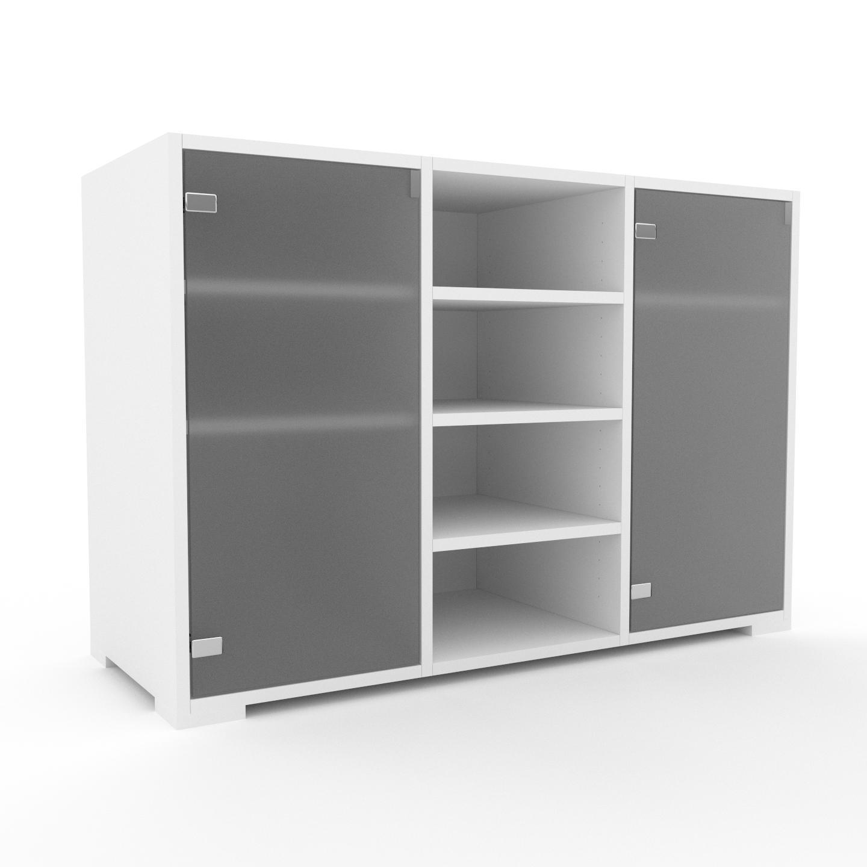 MYCS Vitrine - Verre clair dépoli, moderne, pour documents, avec porte Verre clair dépoli - 118 x 81 x 47 cm, personnalisable