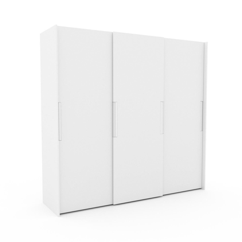 MYCS Dressing - Blanc, design, armoire penderie pour chambre ou entrée, haut de gamme, avec portes coulissantes - 244 x 233 x 65 cm, modulable