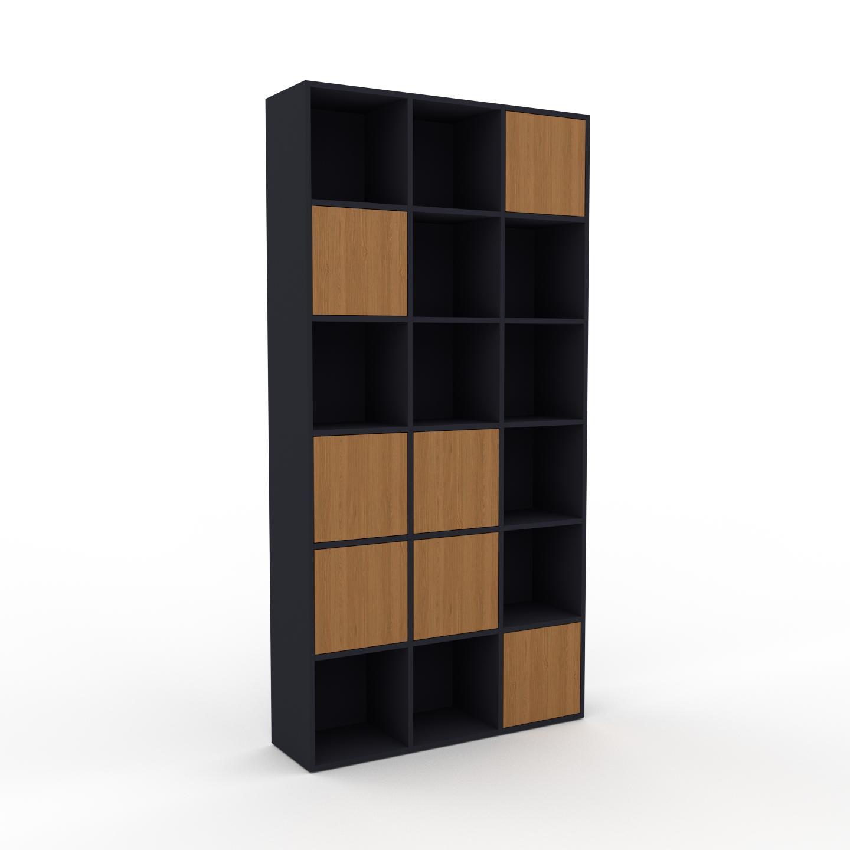 MYCS Placard - Anthracite, contemporain, rangements, avec porte Chêne - 118 x 233 x 35 cm, modulable