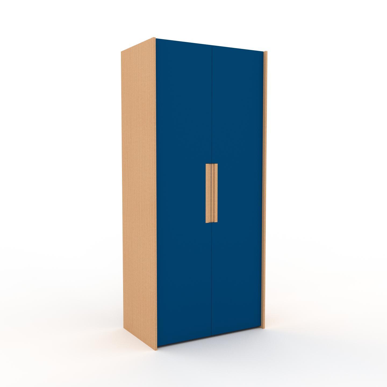 MYCS Dressing - Bleu, design, armoire penderie pour chambre ou entrée, à portes battantes - 104 x 233 x 62 cm, modulable