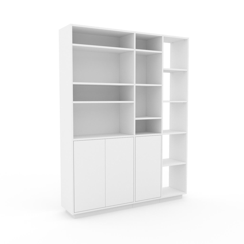 MYCS Placard - Blanc, contemporain, rangements, avec porte Blanc - 154 x 200 x 35 cm, modulable