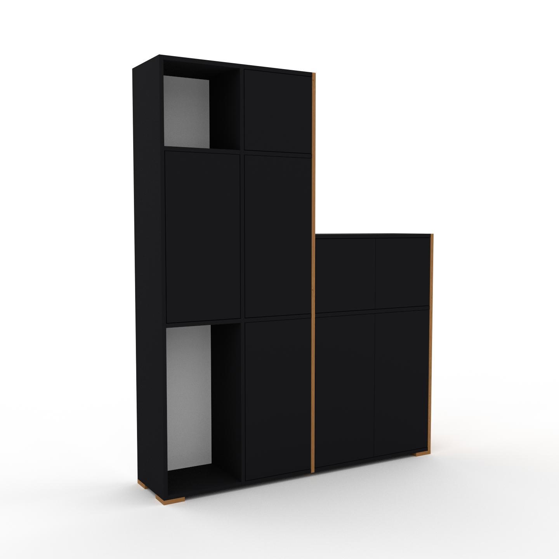 MYCS Placard - Noir, contemporain, rangements, avec porte Noir - 154 x 196 x 35 cm, modulable