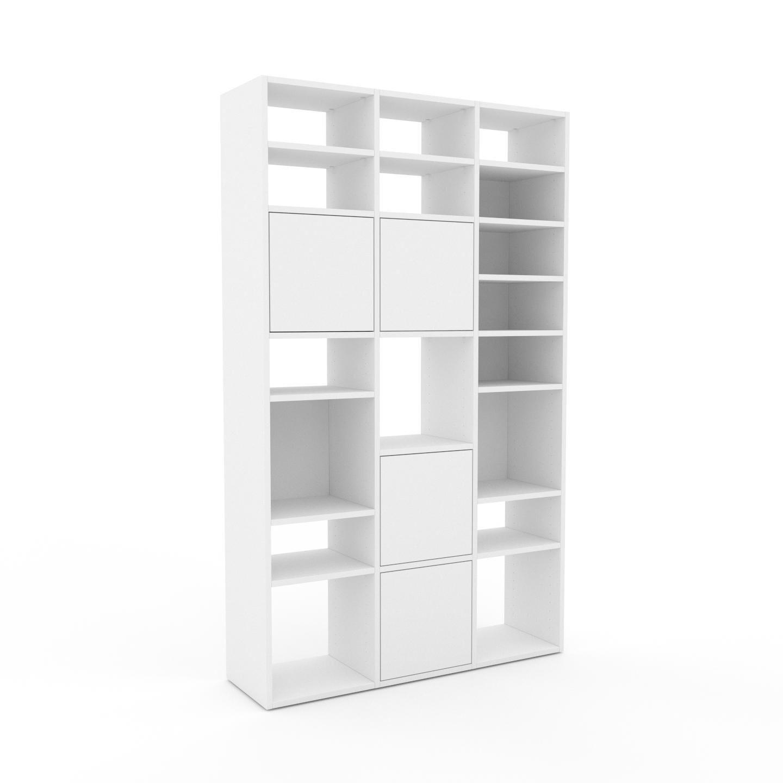 MYCS Placard - Blanc, contemporain, rangements, avec porte Blanc - 118 x 195 x 35 cm, modulable