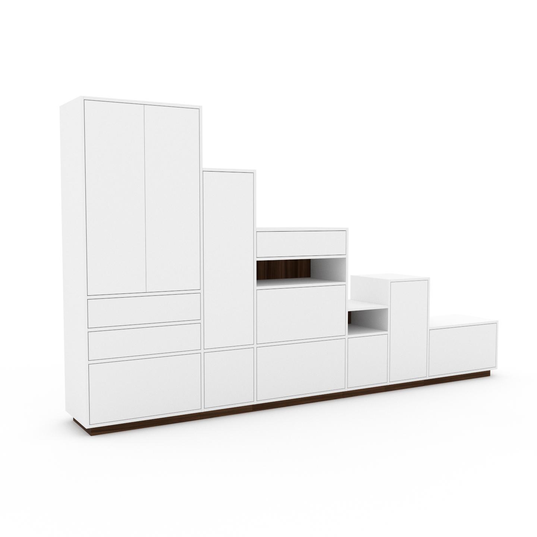 MYCS Placard - Blanc, moderne, rangements, avec porte Blanc et tiroir Blanc - 342 x 200 x 47 cm
