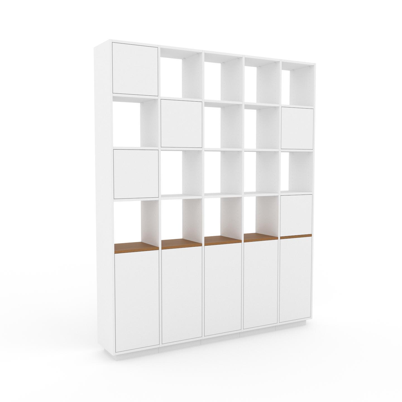 MYCS Placard - Blanc, contemporain, rangements, avec porte Blanc - 195 x 239 x 35 cm, modulable