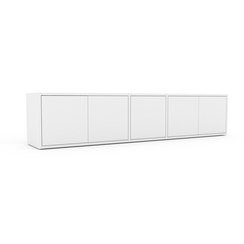 MYCS Placard - Blanc, contemporain, rangements, avec porte Blanc - 190 x 41 x 35 cm, modulable