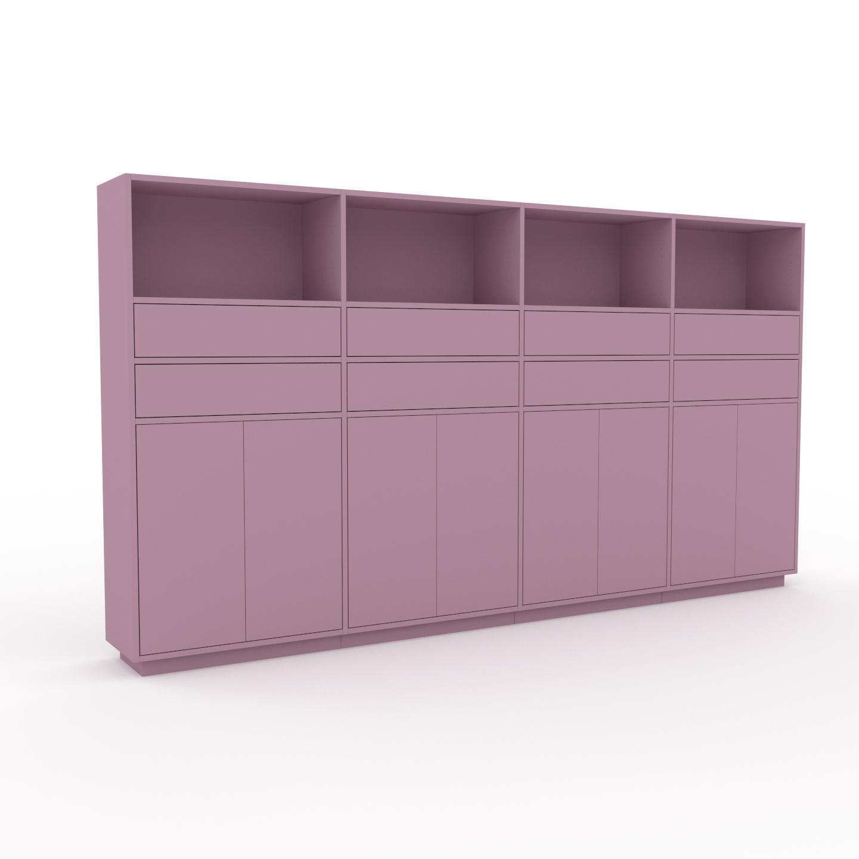 MYCS Enfilade - Rose poudré, design, buffet, avec porte Rose poudré et tiroir Rose poudré - 301 x 162 x 35 cm