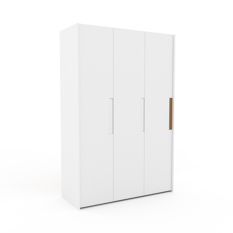 MYCS Dressing - Blanc, design, armoire penderie pour chambre ou entrée, à portes battantes - 154 x 233 x 62 cm, modulable