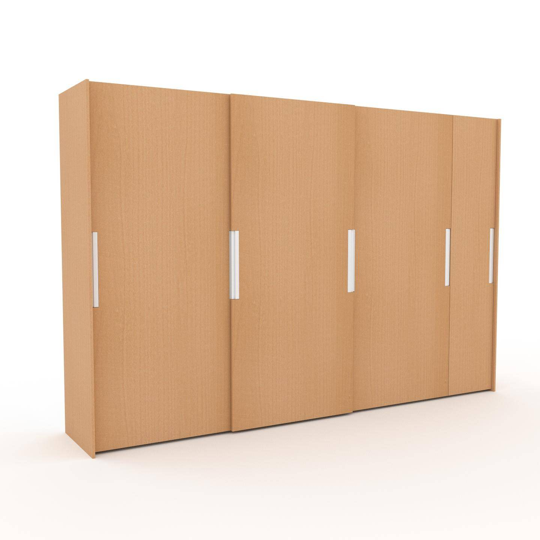MYCS Dressing - Hêtre, design, armoire penderie pour chambre ou entrée, haut de gamme, avec portes coulissantes - 354 x 233 x 65 cm, modulable