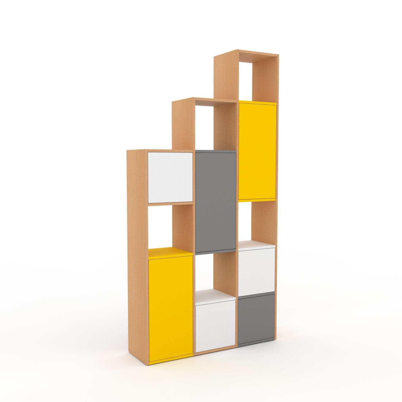 MYCS Placard - Hêtre, contemporain, rangements, avec porte Blanc - 118 x 233 x 35 cm, modulable