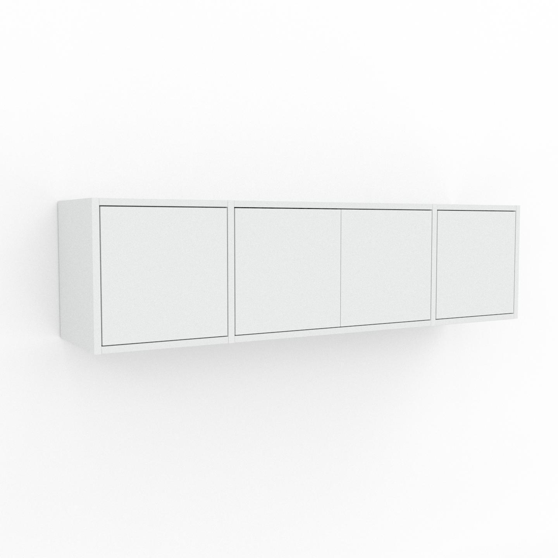 MYCS Étagère murale - Blanc, modèle moderne, placard, avec porte Blanc - 154 x 41 x 35 cm, modulable