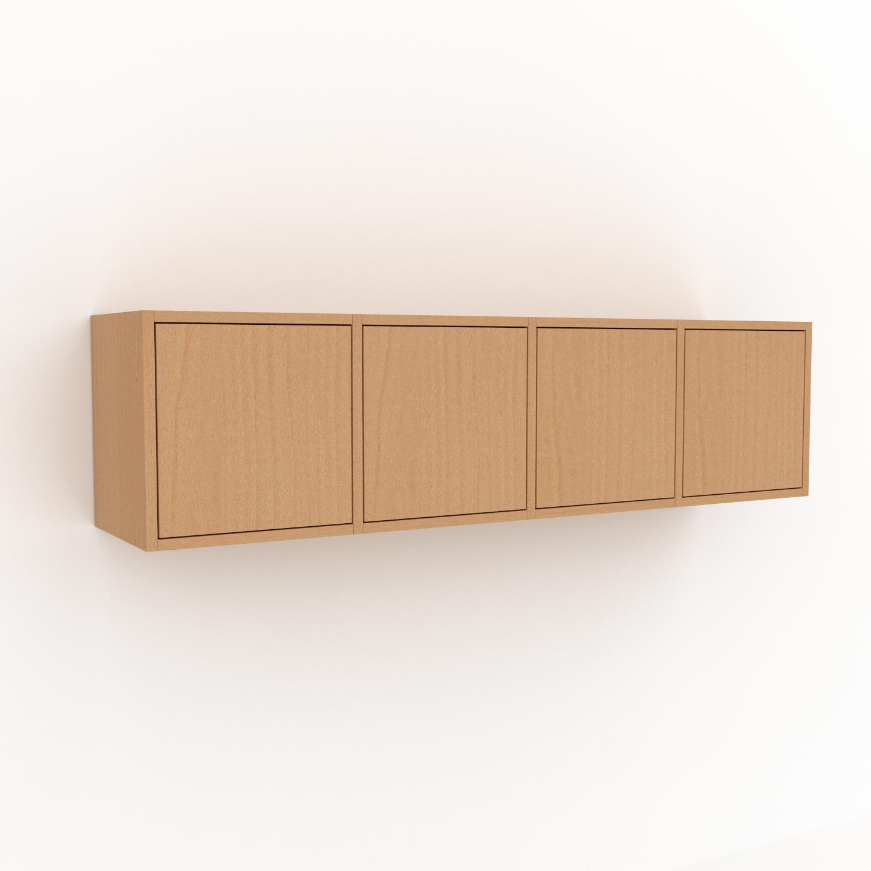 MYCS Étagère murale - Hêtre, modèle moderne, placard, avec porte Hêtre - 156 x 41 x 35 cm, modulable