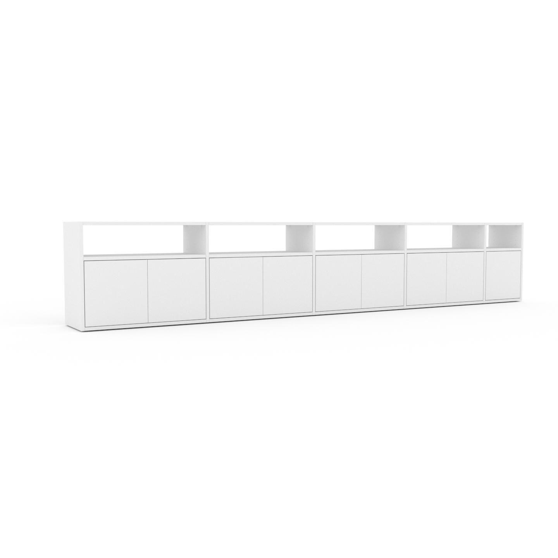 MYCS Placard - Blanc, contemporain, rangements, avec porte Blanc - 339 x 61 x 35 cm, modulable