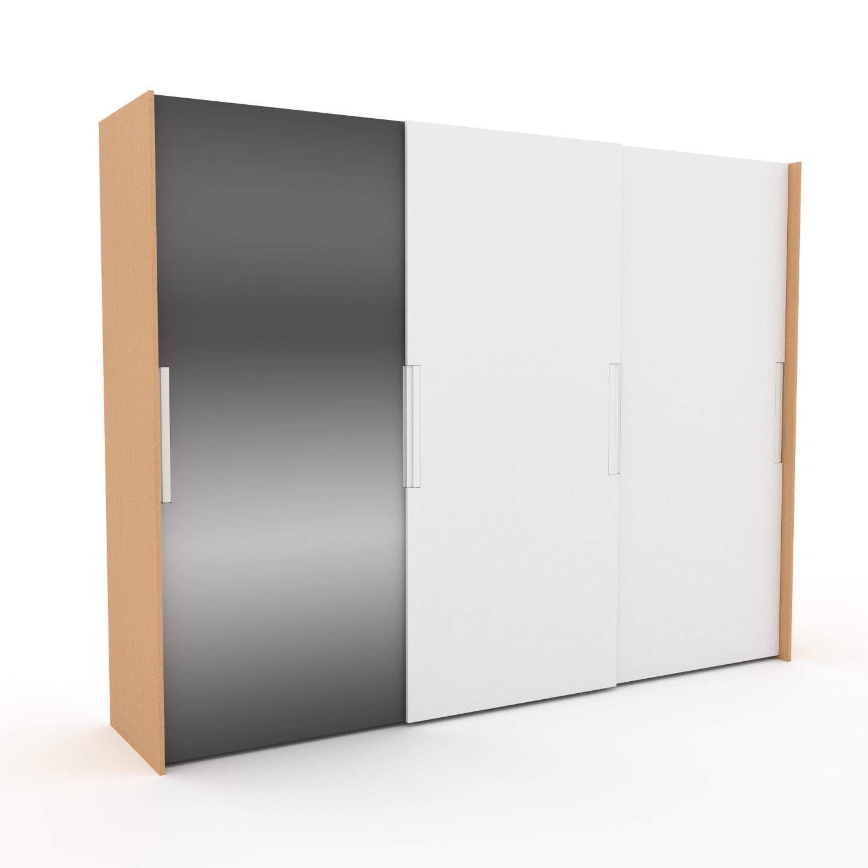 MYCS Dressing - Miroir/Blanc, design, armoire penderie pour chambre ou entrée, haut de gamme, avec portes coulissantes - 304 x 233 x 65 cm, modulable