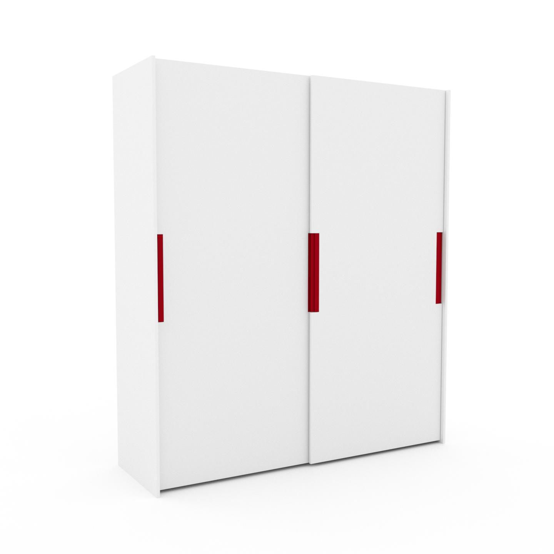 MYCS Dressing - Blanc, design, armoire penderie pour chambre ou entrée, haut de gamme, avec portes coulissantes - 204 x 233 x 65 cm, modulable