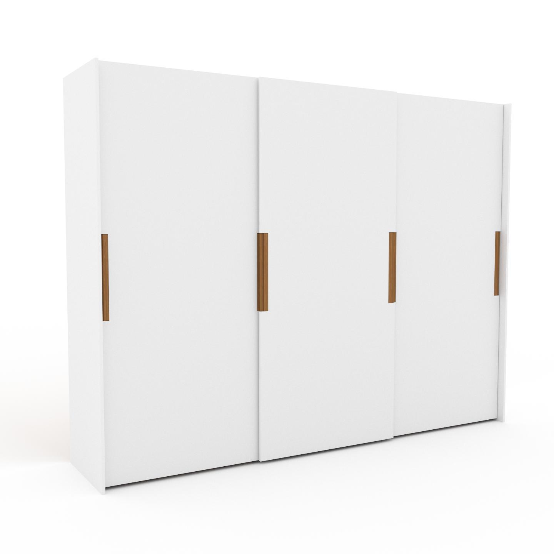 MYCS Dressing - Blanc, design, armoire penderie pour chambre ou entrée, haut de gamme, avec portes coulissantes - 304 x 233 x 65 cm, modulable
