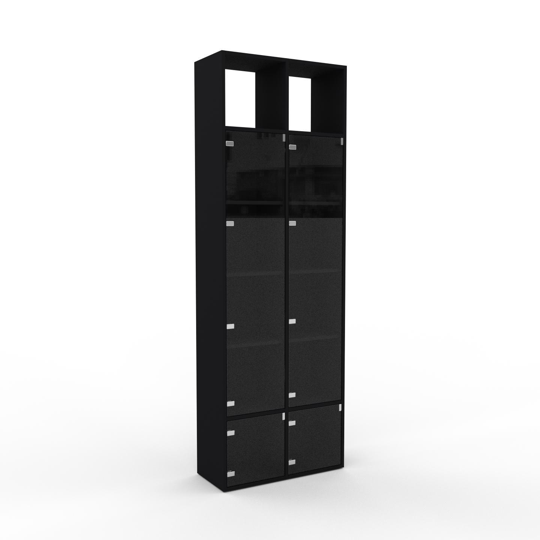 MYCS Vitrine - Verre clair transparent, moderne, pour documents, avec porte Verre clair transparent - 79 x 233 x 35 cm, personnalisable