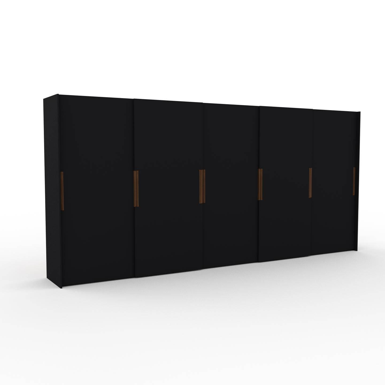 MYCS Dressing - Noir, design, armoire penderie pour chambre ou entrée, haut de gamme, avec portes coulissantes - 504 x 233 x 65 cm, modulable