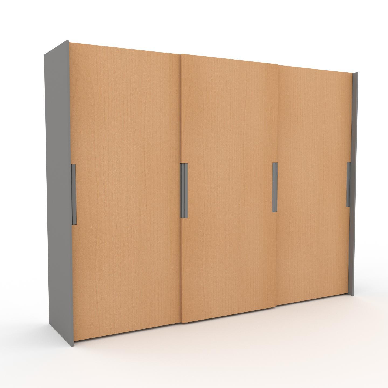 MYCS Dressing - Hêtre, design, armoire penderie pour chambre ou entrée, haut de gamme, avec portes coulissantes - 304 x 233 x 65 cm, modulable