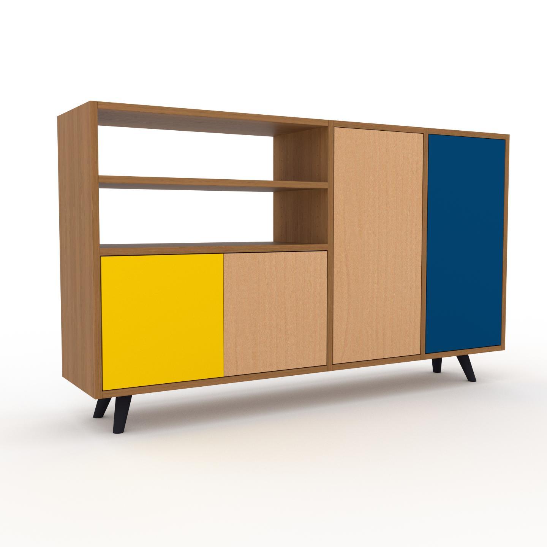 MYCS Placard - Chêne, contemporain, rangements, avec porte Hêtre - 154 x 91 x 35 cm, modulable
