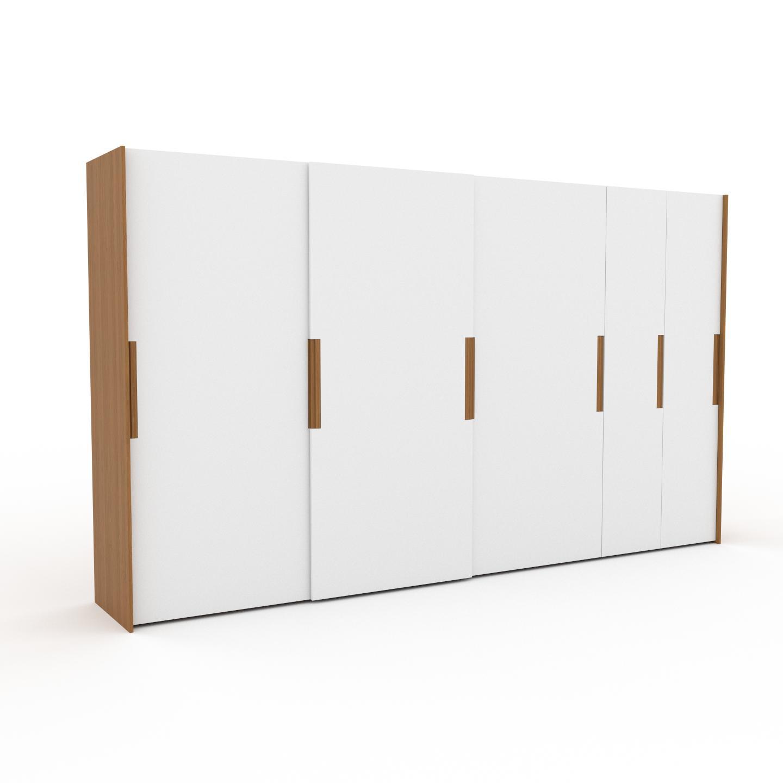 MYCS Dressing - Blanc, design, armoire penderie pour chambre ou entrée, haut de gamme, avec portes coulissantes - 404 x 233 x 65 cm, modulable
