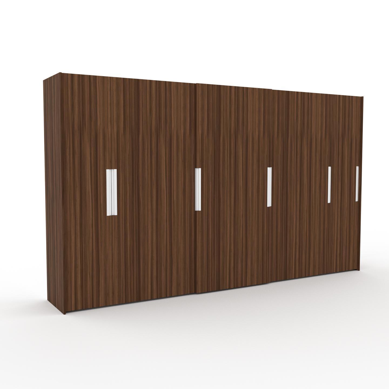 MYCS Dressing - Noyer, design, armoire penderie pour chambre ou entrée, haut de gamme, avec portes coulissantes - 404 x 233 x 65 cm, modulable