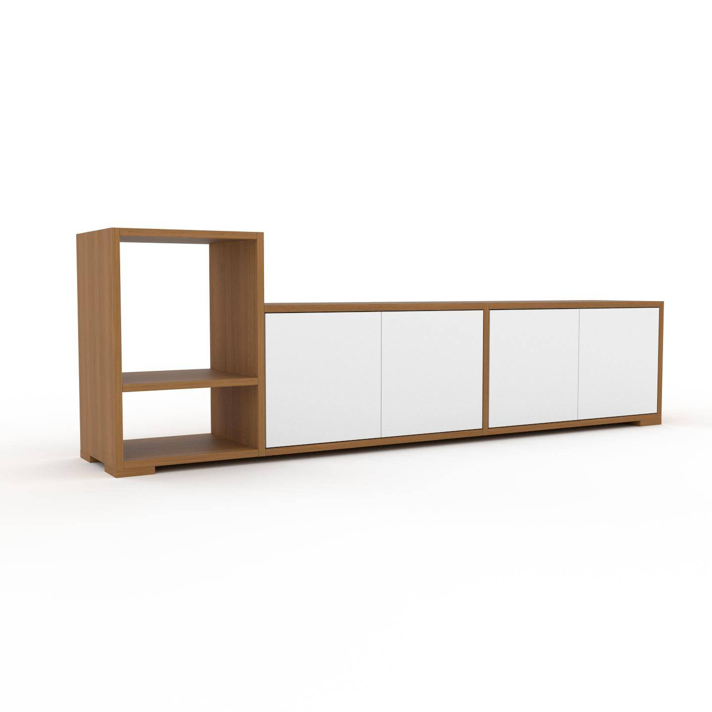 MYCS Placard - Chêne, contemporain, rangements, avec porte Blanc - 190 x 62 x 35 cm, modulable