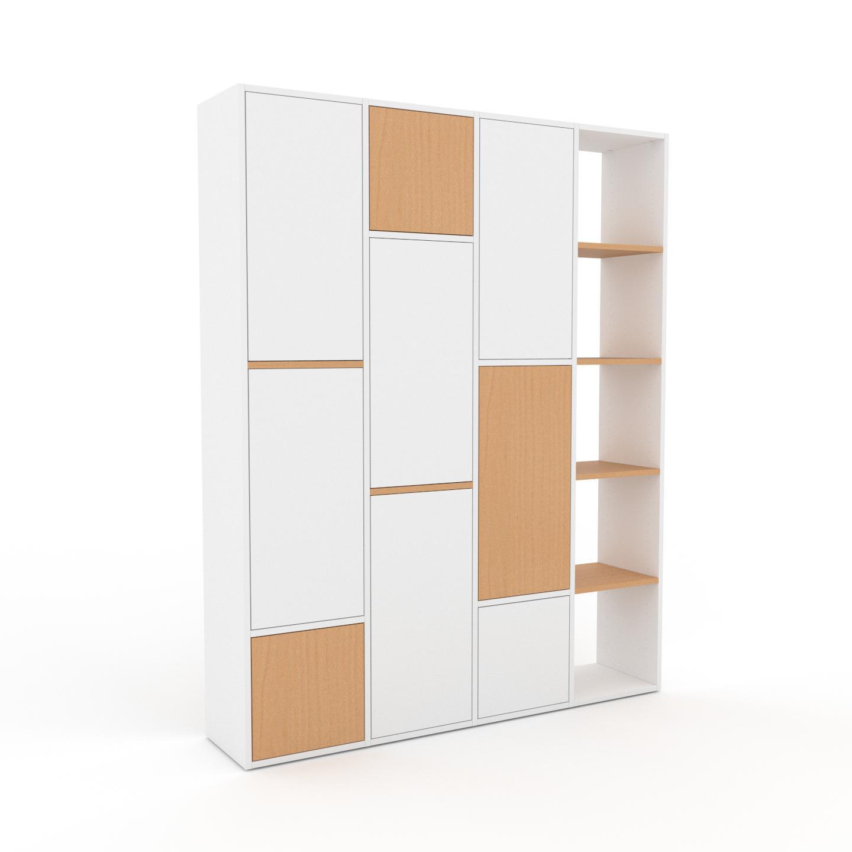 MYCS Placard - Blanc, contemporain, rangements, avec porte Blanc - 156 x 195 x 35 cm, modulable