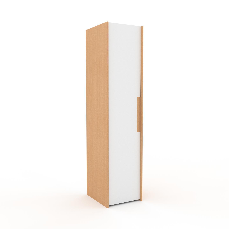 MYCS Dressing - Blanc, design, armoire penderie pour chambre ou entrée, à portes battantes - 54 x 233 x 62 cm, modulable