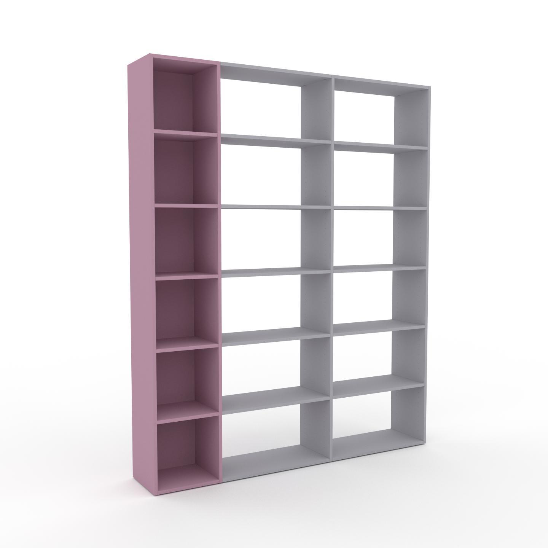 MYCS Bibliothèque - Rose poudré, design, étagère pour livres, sophistiquée, ouverte et fonctionelle - 190 x 233 x 35 cm, personnalisable