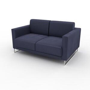 MYCS Canapé 2 places Velours - Bleu outremer, design épuré, petit canapé deux personnes, élégant - 144 x 75 x 98 cm, modulable - Publicité