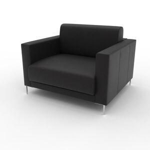 MYCS Fauteuil - Noir, modèle épuré, grand fauteuil en tissu avec pieds personnalisables - 104 x 75 x 98 cm, modulable - Publicité