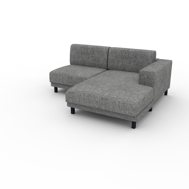 MYCS Canapé d'angle - Gris Pierre, design épuré, canapé en L ou angle, élégant avec méridienne ou coin - 184 x 75 x 162 cm, modulable