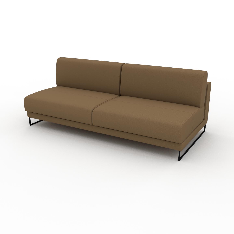MYCS Canapé en cuir - Noix Cuir Nubuck, lounge, esprit club ou cosy avec toucher chaleureux, 200x 75 x 98 cm, modulable
