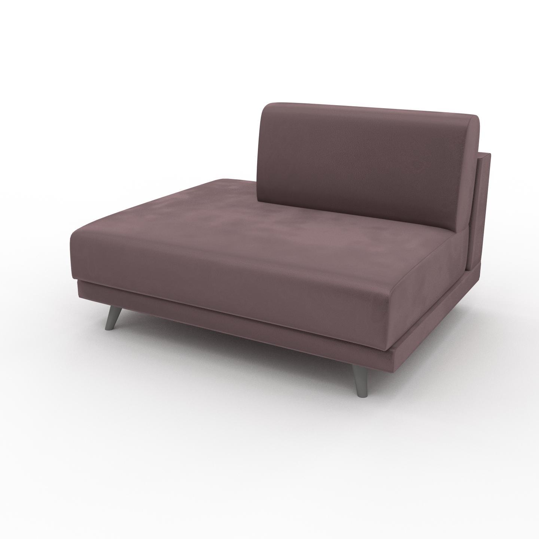 MYCS Fauteuil Velours - Rose Poudré, modèle épuré, grand fauteuil en tissu avec pieds personnalisables - 120 x 75 x 98 cm, modulable