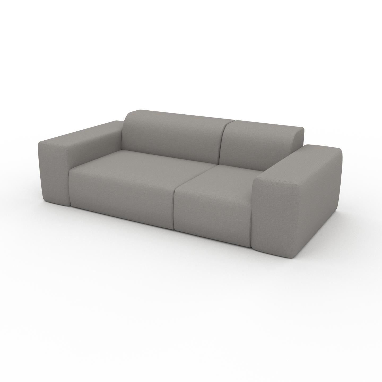 MYCS Canapé - Grège, forme arrondie, canapé bas et profond pour salon, en tissu sans pieds - 226 x 72 x 107 cm, modulable