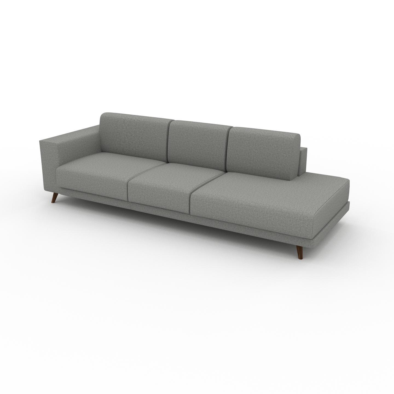 MYCS Canapé - Gris Clair, modèle épuré, canapé pour salon, en tissu avec pieds personnalisables - 264 x 75 x 98 cm, modulable