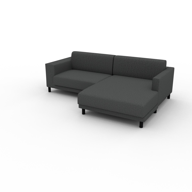 MYCS Canapé d'angle - Gris pierre, design épuré, canapé en L ou angle, élégant avec méridienne ou coin - 236 x 75 x 162 cm, modulable