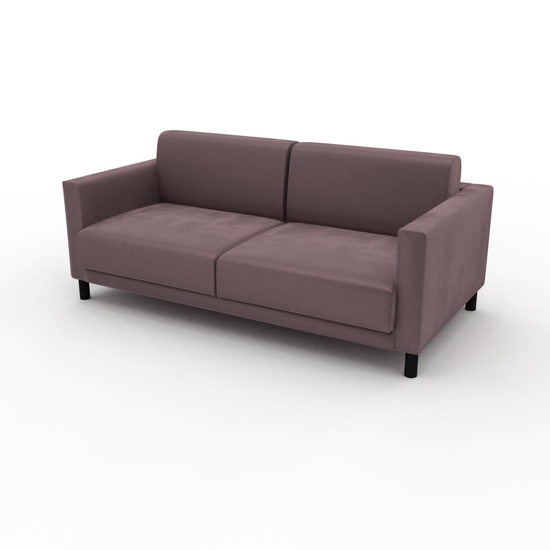 MYCS Canapé d'angle Velours - Rose Poudré, design épuré, canapé en L ou angle, élégant avec méridienne ou coin - 184 x 75 x 98 cm, modulable