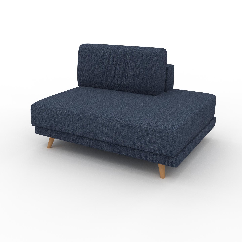MYCS Fauteuil - Bleu Denim, modèle épuré, grand fauteuil en tissu avec pieds personnalisables - 120 x 75 x 98 cm, modulable