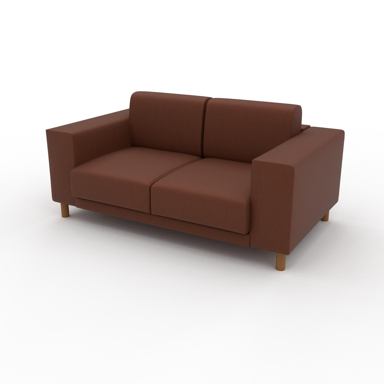 MYCS Canapé en cuir - Cognac Cuir Végan, lounge, esprit club ou cosy avec toucher chaleureux, 168x 75 x 98 cm, modulable