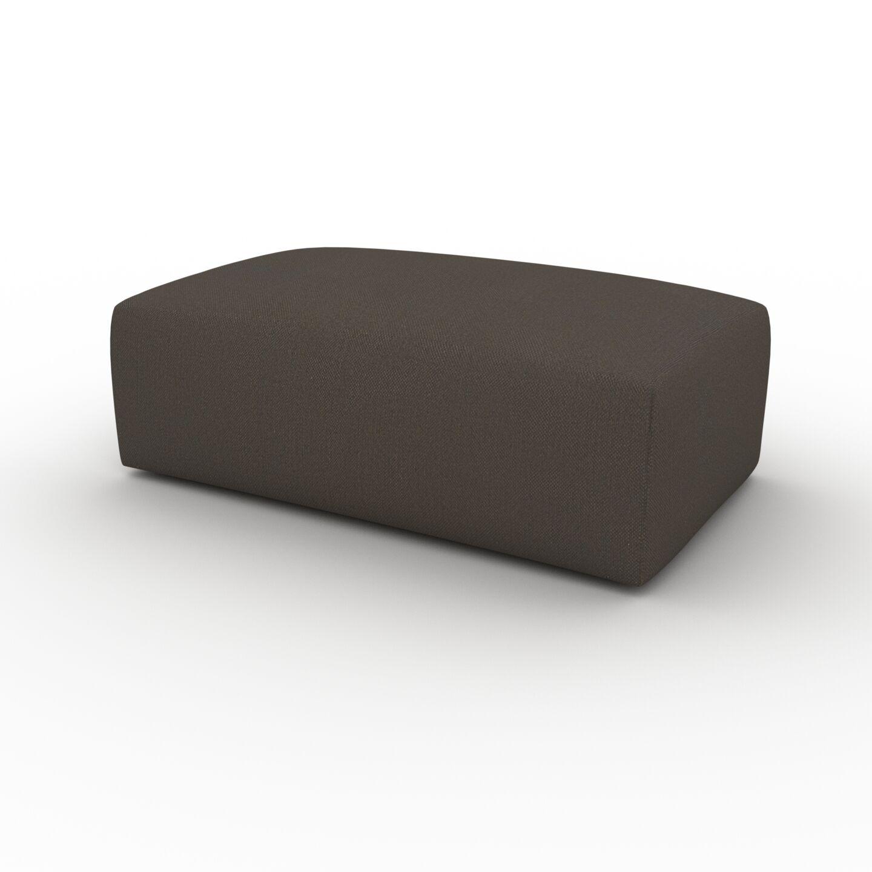 MYCS Pouf - Brun Chocolat, design épuré, 100 x 42 x 64 cm, modulable