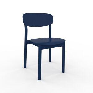 MYCS Chaise de salle à manger Bleu nuit de 52 x 82 x 49 cm au design unique, configurable - Publicité