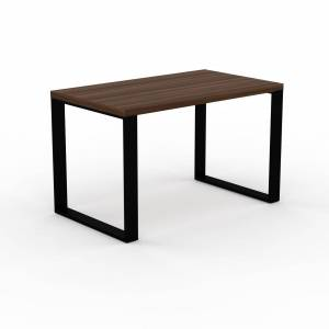 MYCS Table - Noyer, design, plateau de table raffiné - 120 x 75 x 70 cm, personnalisable - Publicité
