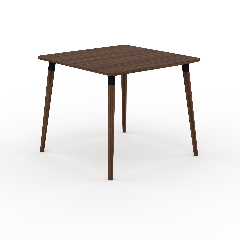 MYCS Table à manger - Noyer, design scandinave, pour salle à manger ou cuisine nordique - 90 x 75 x 90 cm, personnalisable