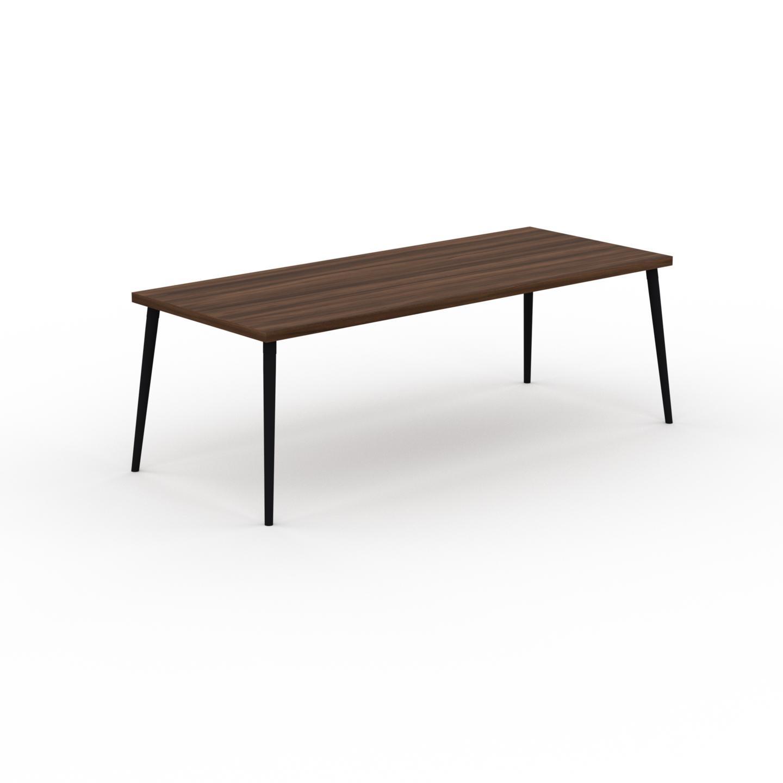 MYCS Table à manger - Noyer, design scandinave, pour salle à manger ou cuisine nordique - 220 x 75 x 90 cm, personnalisable
