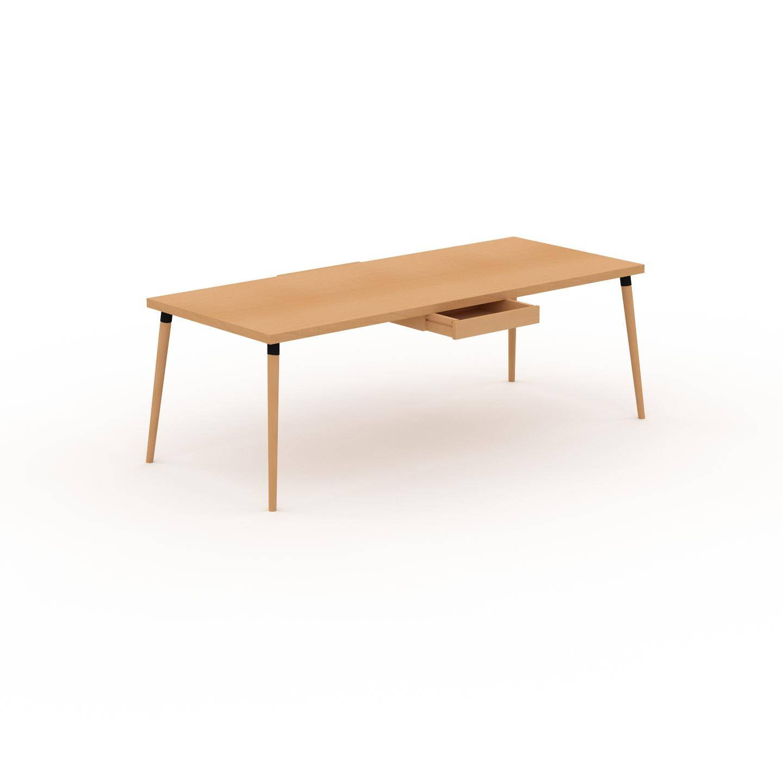 MYCS Table à manger - Hêtre, design scandinave, pour salle à manger ou cuisine nordique - 220 x 75 x 90 cm, personnalisable