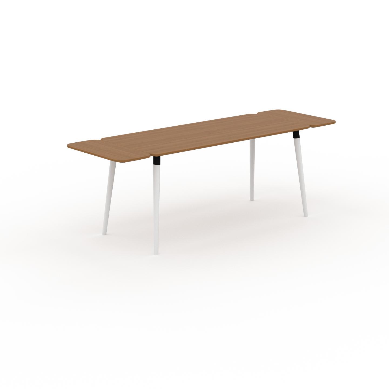 MYCS Table à manger - Chêne, design scandinave, pour salle à manger ou cuisine nordique, table extensible à rallonge - 220 x 75 x 70 cm